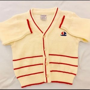 Darling Classic Style Tennis Cardigan Baby Boys